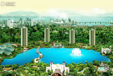 潮州恒大城人工湖水处理